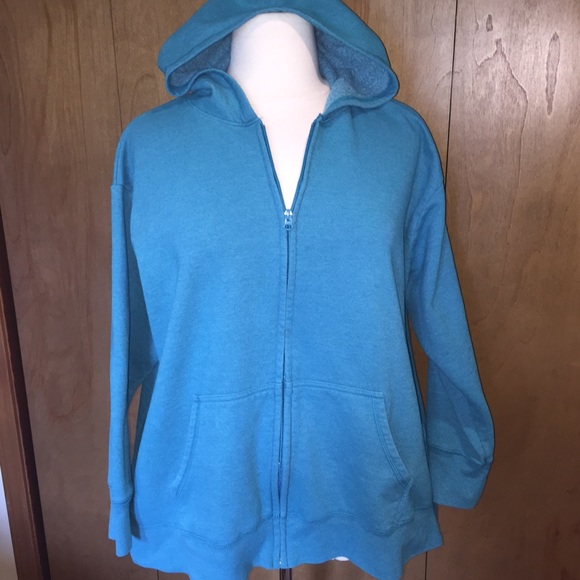 6fe4694d6eb Just My Size Tops - Sz 3x JMS Teal hoodie with pockets